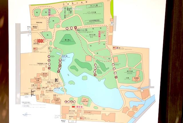 水前寺公園案内図