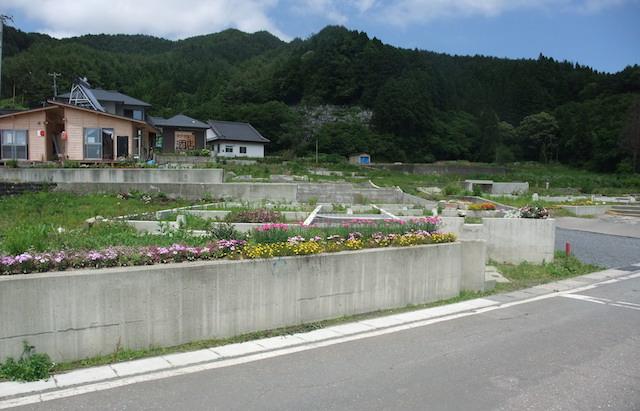 住居跡の花壇