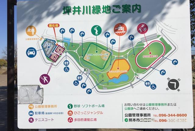 坪井川緑地案内図