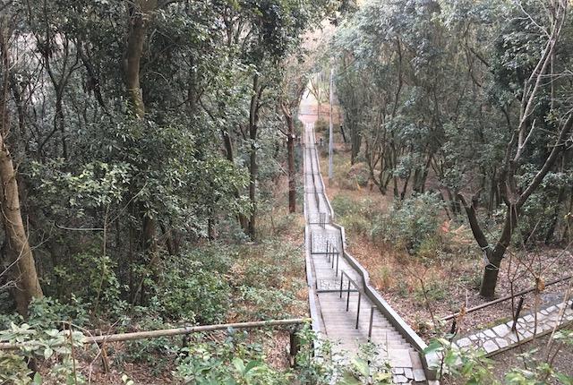 弁天山石段