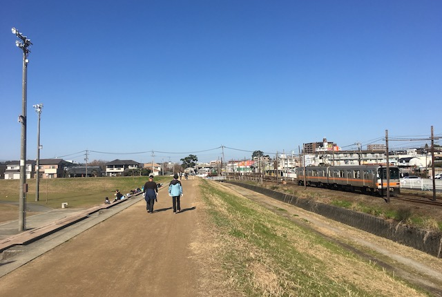 坪井川緑地菊池電鉄