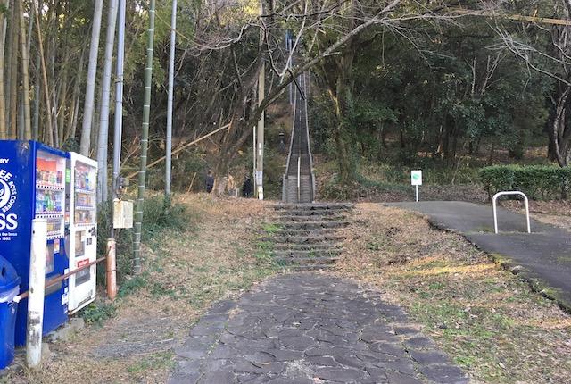 弁天山石段前自販機