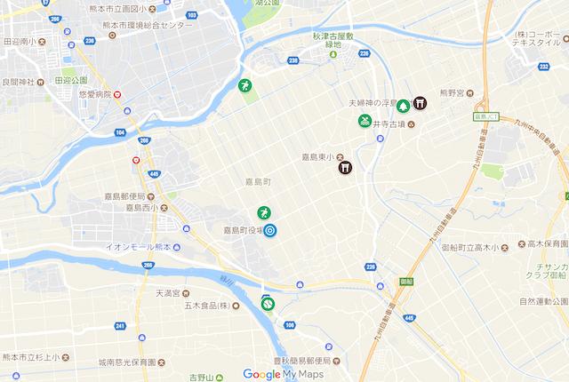熊本県嘉島町の主な公園