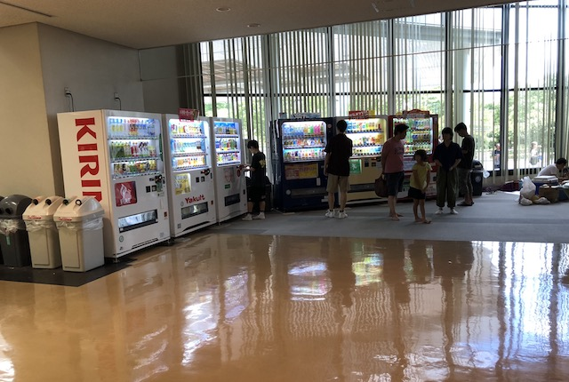 玉名市総合体育館自販機