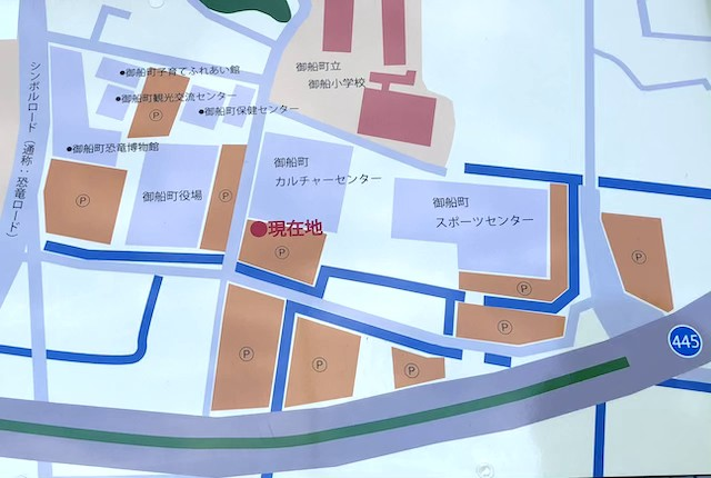 御船町スポーツセンター駐車場マップ