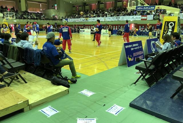 青柳公園市民体育館車椅子席