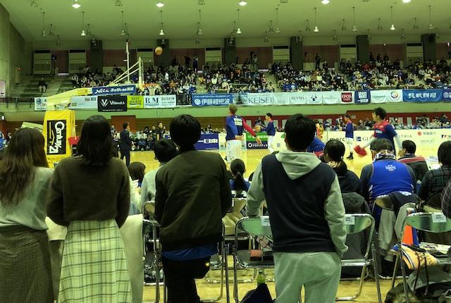 青柳公園市民体育館1階指定席B