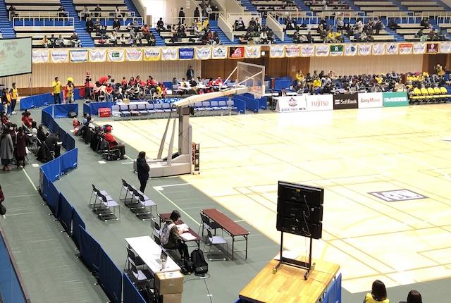 ヤマト市民体育館記者席
