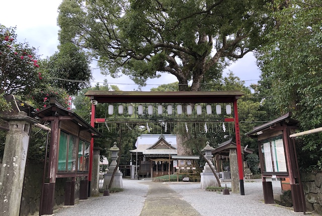 立田阿蘇三宮神社参道