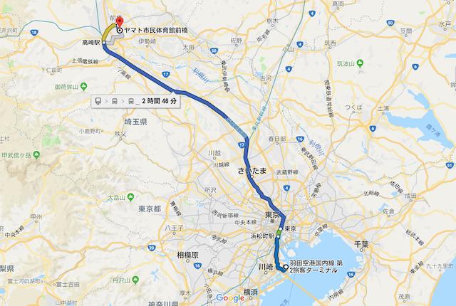 ヤマト市民体育館前橋アクセスマップ