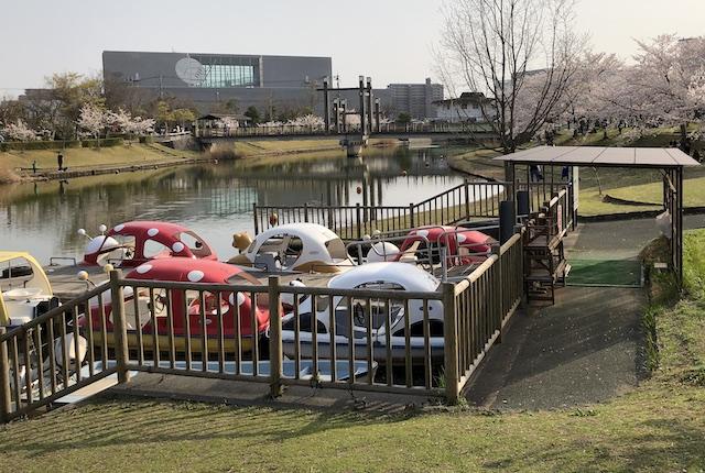 松江市北公園ペダルボート