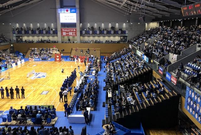 松江市総合体育館スタンド席