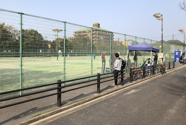 松江市北公園テニスコート