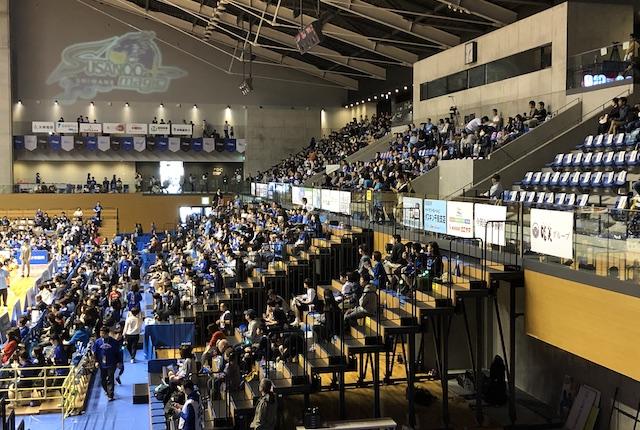松江市総合体育館2階指定席
