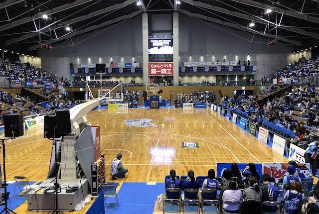 松江市総合体育館コートエンド