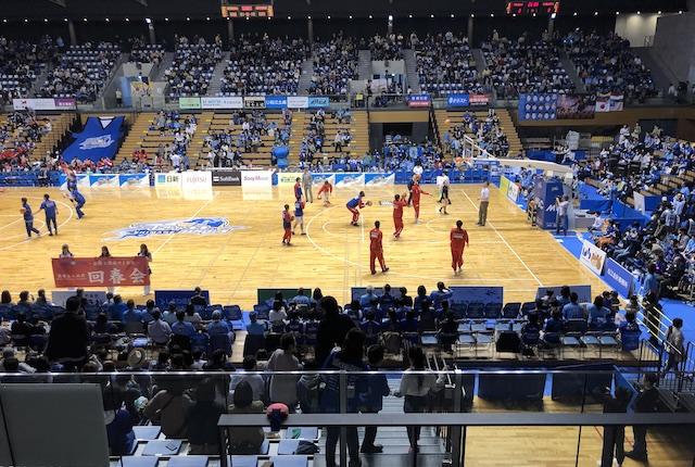 松江市総合体育館2階席