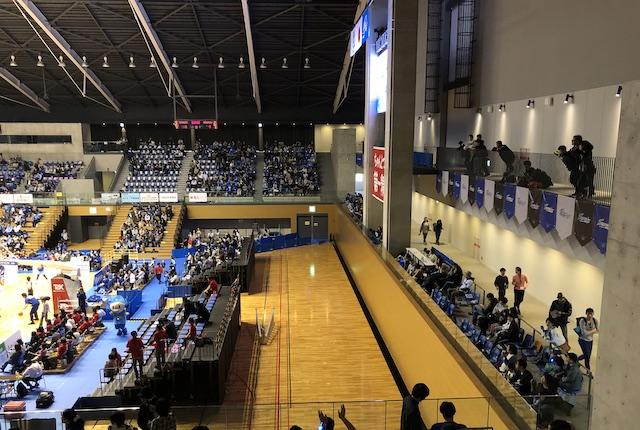 松江市総合体育館2階自由席