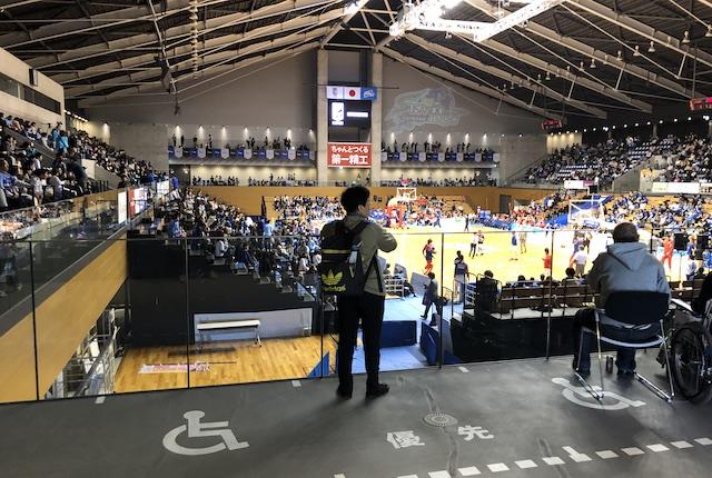 松江市総合体育館車いすエリア