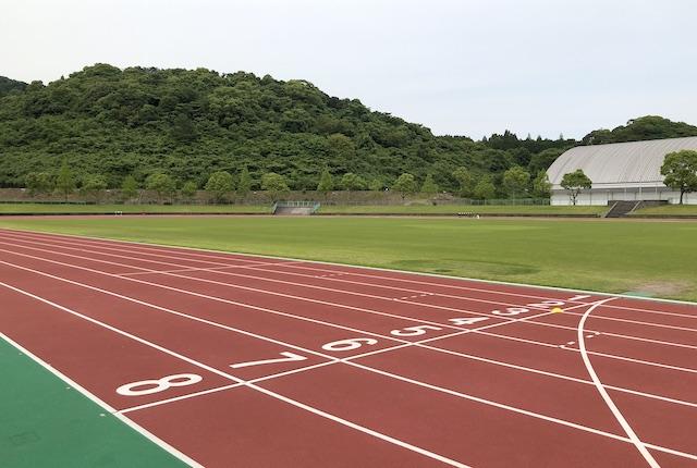 薩摩川内市総合運動公園陸上競技場トラック