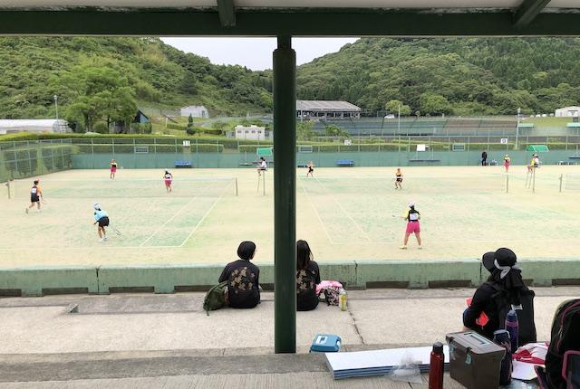 薩摩川内市総合運動公園テニスコート観覧席
