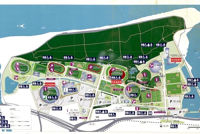 宮崎県総合運動公園マップ