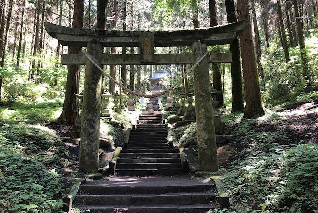 上色見熊野座神社二の鳥居