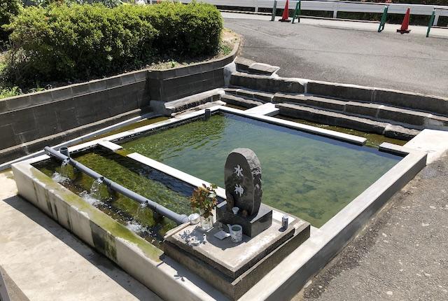 中無田熊野座神社の銘水