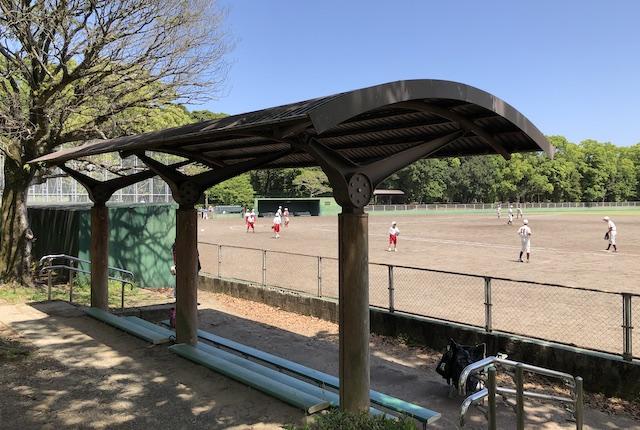 宮崎県総合運動公園軟式野球場ベンチ