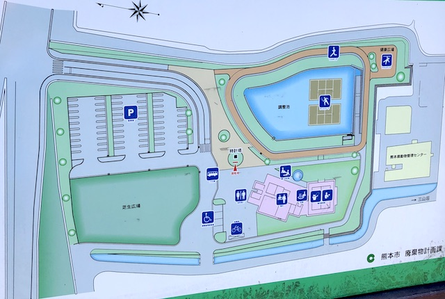 熊本市東部交流センター案内図