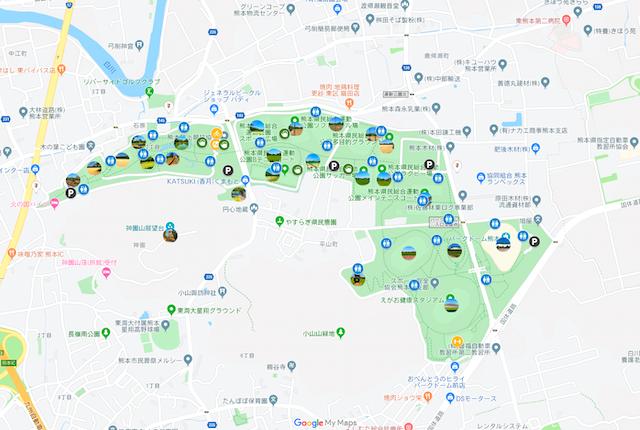 熊本県民総合運動公園マップ