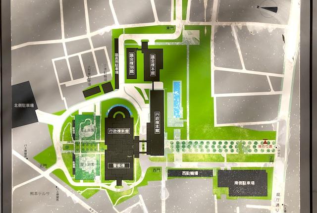 熊本県庁案内図